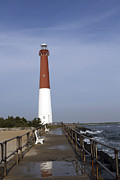 Barnegat Inlet Prints - Barnegat Light Print by John Van Decker