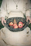Apple Framed Prints - Basket With Fruits Framed Print by Joana Kruse