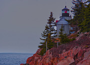 Maine Lighthouses Digital Art Framed Prints - Bass Harbor Lighthouse Framed Print by Mike Griffiths