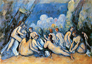 Bathing Paintings - Bathers by Paul Cezanne