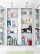 Toiletry Prints - Bathroom Cabinet Print by Tek Image