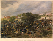American Revolution Framed Prints - Battle Of Monmouth, 1778 Framed Print by Granger