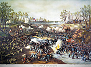 Confederate Flag Framed Prints - Battle Of Shiloh, 1862 Framed Print by Granger