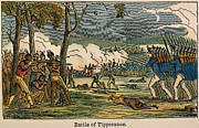 1811 Posters - Battle Of Tippecanoe, 1811 Poster by Granger