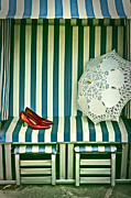 Lace Shoes Framed Prints - Beach Chair Framed Print by Joana Kruse