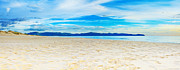 Sea Island Scene Framed Prints - Beach panorama Framed Print by MotHaiBaPhoto Prints