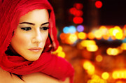 Abstract Hijab Posters - Beautiful arabic woman Poster by Anna Omelchenko
