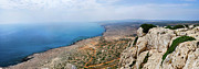 Sights Art - Beautiful View on Mediterranean Sea from Cape Gkreko in Cyprus by Oleksiy Maksymenko