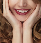 Make-up Posters - Beautiful Young Smiling Woman Poster by Oleksiy Maksymenko