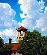Building Painting Originals - Bell Tower by Kevin Lawrence Leveque