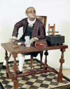 Portrait Sculpture Photograph Prints - Benjamin Franklin (1706-1790) Print by Granger