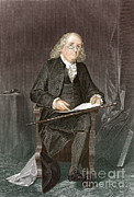 Benjamin Franklin Prints - Benjamin Franklin, American Polymath Print by New York Public Library
