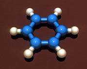 Molecular Graphic Photos - Benzene Molecule by Laguna Design