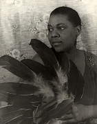 Earrings Photo Framed Prints - Bessie Smith, American Blues Singer Framed Print by Everett