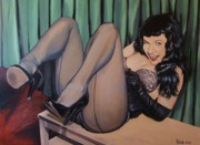 Pinups Prints - Bettie Page Print by Robert Kotrola