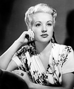 Colbw Photo Framed Prints - Betty Grable Framed Print by Everett