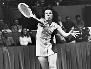 Sportswoman Photo Framed Prints - Billie Jean King (1943- ) Framed Print by Granger