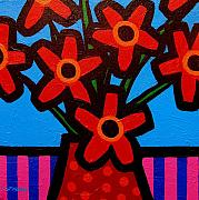 Inspirational Paintings - Black Eyed Flowers by John  Nolan