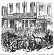 Bank Panic Framed Prints - Black Friday, 1869 Framed Print by Granger