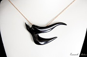 Moda Jewelry - Black Swallow  by Emanuele Rubini