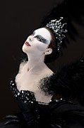 Ballet Dancers Metal Prints - Black Swan Metal Print by Vickie Arentz