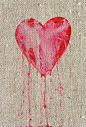 Painted Mixed Media - Bleeding Heart by Michal Boubin