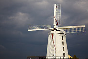 Overcast Day Framed Prints - Blennerville windmill Framed Print by Gabriela Insuratelu