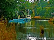 Shrimp Boat Originals - 2 Blue shrimp boats by Michael Thomas