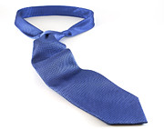 Blue Shirt Posters - Blue Tie Poster by Blink Images