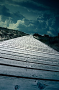 Storm Acrylic Prints - Boardwalk Acrylic Print by Joana Kruse