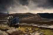 Beached Photos - Boat Ashore, Loch Sunart, Scotland by John Short