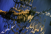 Bank Photos - Boat Reflections At Sea by Stylianos Kleanthous