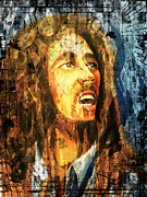 Porridge Digital Art Framed Prints - Bob Marley Framed Print by Biren Biren