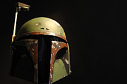Hunter Green Prints - Boba Fett Helmet Print by Micah May