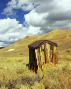 Ghost Town Outhouse Framed Prints - Bodie Outhouse Framed Print by Jim and Emily Bush