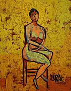 Nude Painting Posters - Body And Soul Poster by Yulonda Rios