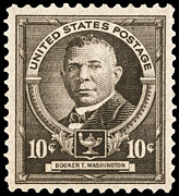 Educator Posters - Booker T. Washington Poster by Granger
