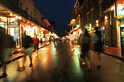 Rain Digital Art Framed Prints - Bourbon Street at Dusk Framed Print by Thomas R Fletcher