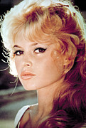 Bangs Framed Prints - Brigitte Bardot, 1960s Framed Print by Everett
