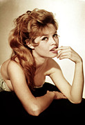 Bardot Framed Prints - Brigitte Bardot, Ca. 1950s Framed Print by Everett