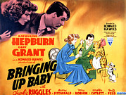 Cary Posters - Bringing Up Baby, Katharine Hepburn Poster by Everett