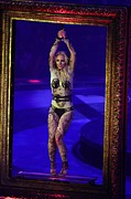 Britney Spears Framed Prints - Britney Spears On Stage For The Circus Framed Print by Everett
