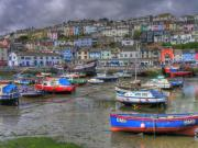 Quay Wall Posters - Brixham Harbour Poster by Mike Lester