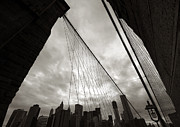 Aurica Voss Posters - Brooklyn Bridge Poster by Aurica Voss