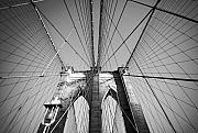 Brick Streets Framed Prints - Brooklyn Bridge Framed Print by Svetlana Sewell
