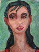 African-american Pastels - Brown Eyes by Derrick Hayes