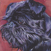 Modern Dog Art Paintings - Brussels Griffon by Lee Ann Shepard
