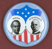 Ewing Prints - Bryan Campaign Button Print by Granger