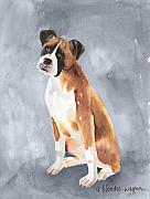Boxer Metal Prints - Buddy Metal Print by Arline Wagner