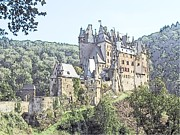 Europe Drawings - Burg Eltz in Profile by Joseph Hendrix